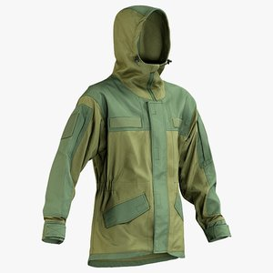 realistic hunting jacket hood 3D model