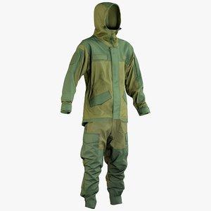 realistic hunting uniform hood 3D model