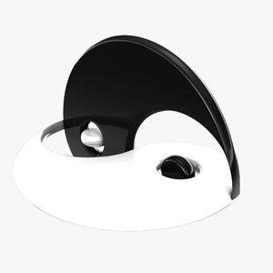 yin yang symbol 3D model