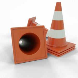 traffic cone architectural model