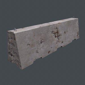 concrete barrier model