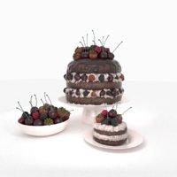 cakes berries 3D