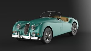 1955 xk140 mc lhd 3D model