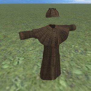 3D inverness coat