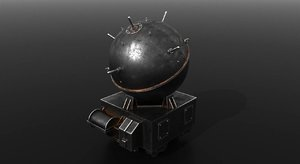 naval mines 3D model