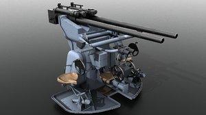 sk c30 german anti-aircraft 3D model