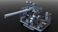 gun naval war 3D model