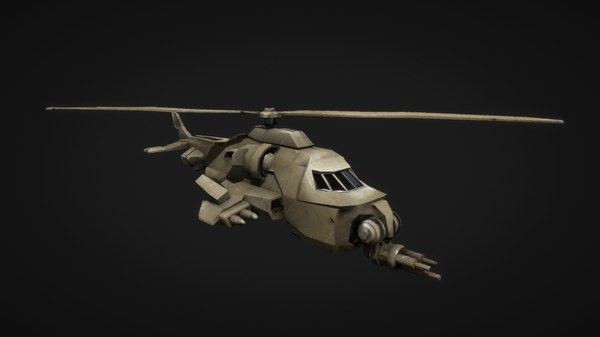 helicopter heli 3D model