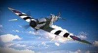 3d model supermarine spitfire aircraft