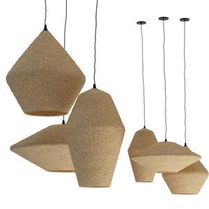 3D chandeliers rottan set pendant light