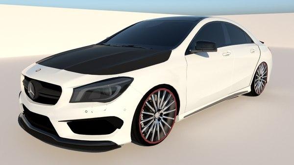 cla45 amg mercedes 3D model