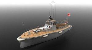 motor boat japanese warships 3D model