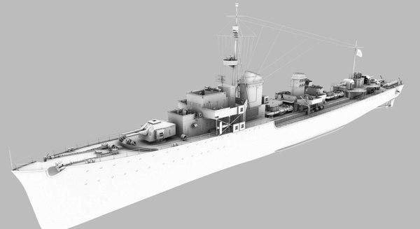 destroyer z-37 narvik model