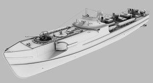 s100 schnellboot boat 3D model