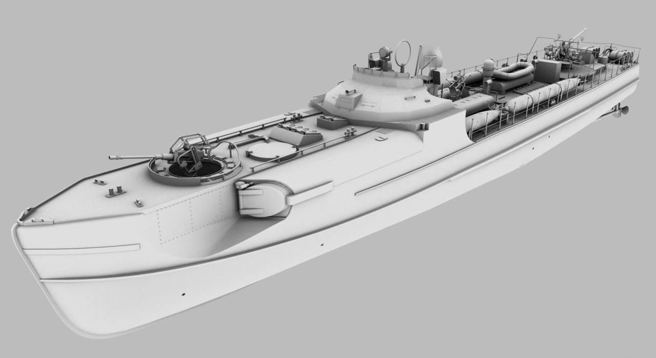 3D s38-b schnellboot historical