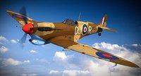 supermarine spitfire squadron aircraft 3d model