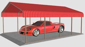 3D carport canopy tent