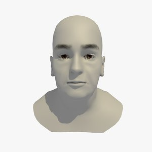realistic head base mesh 3D model