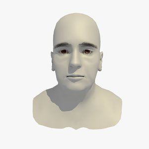 realistic head base mesh 3D