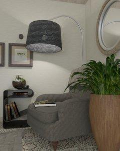 3D scene reading corner