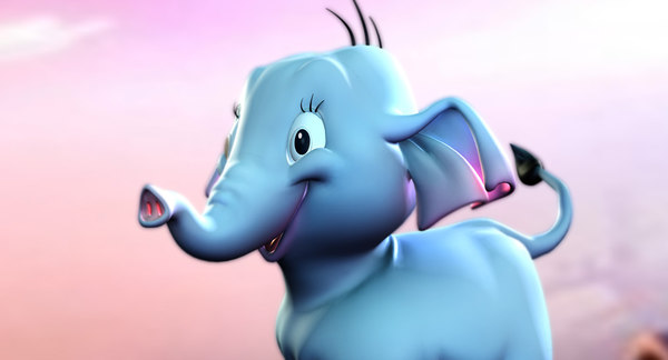 3D cartoon elephant