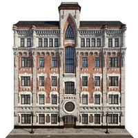 Gothic building facade