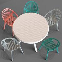 Ibiza Round Table and Loftdesigne Chair 30233