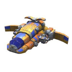 3D heavy missile corvette model