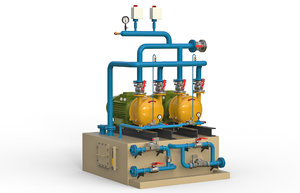 industrial compressor 3D