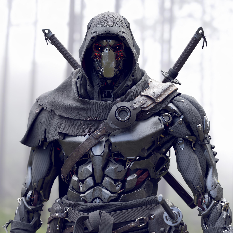 special ninja robot 3D model