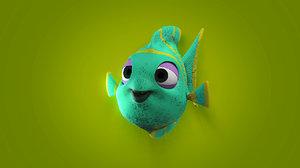 blowfish fish 3D model