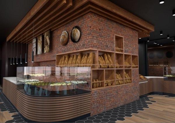 3D model turkish style bakery restaurant