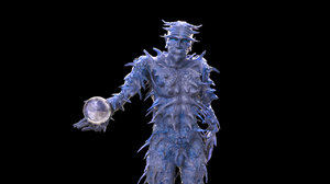 3D model ice demon