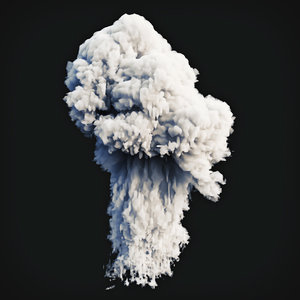 smoke explosion 2 3D model