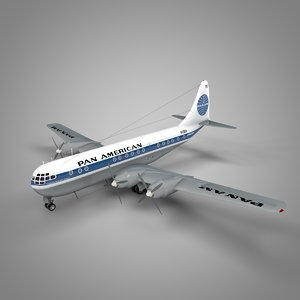 boeing 377 stratocruiser pan 3D model