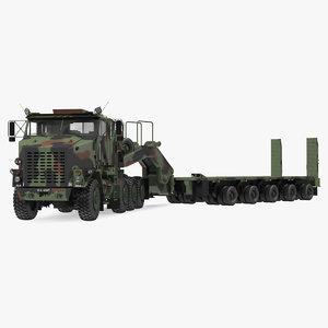 3D oshkosh m1070 tank transporter