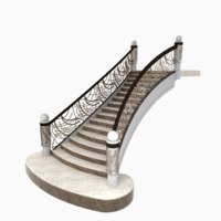 3D model stairs staircase steps