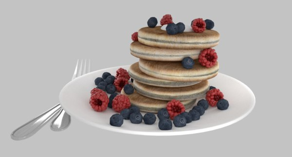 3D pan cake pancake model