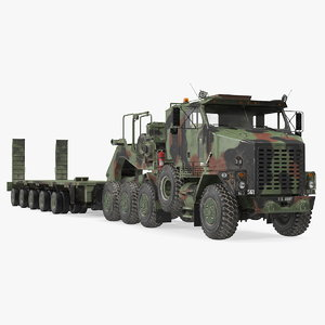 3D camouflage oshkosh m1070 tank model