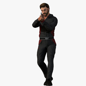 3D man people character
