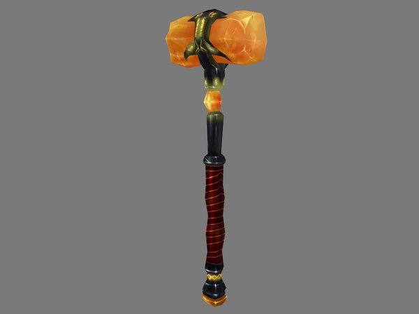 amber hammer 3D model