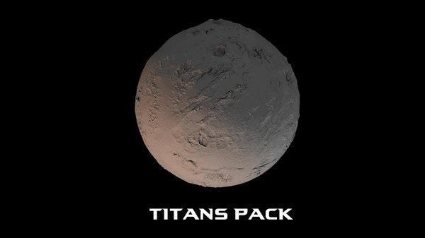 3D titans pack model