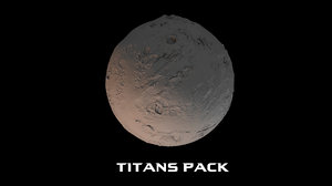 3D titans pack model