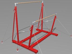 3D uneven bars