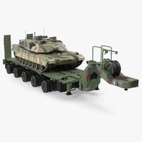 tank transporter m1000 semi-trailer 3D