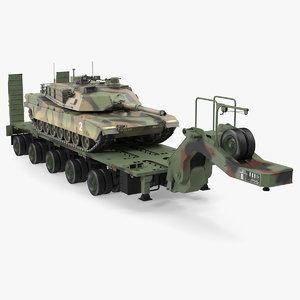 tank transporter m1000 semi-trailer 3D