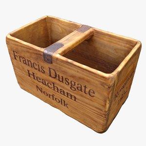 3D decoration woodbox model
