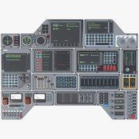 control panels 3D model