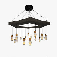 3D edison style lamp