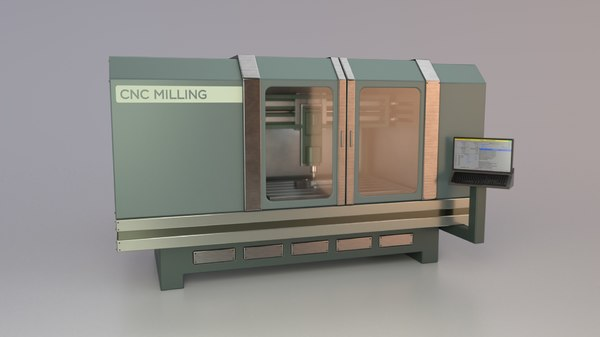 3D model industrial cnc milling machine